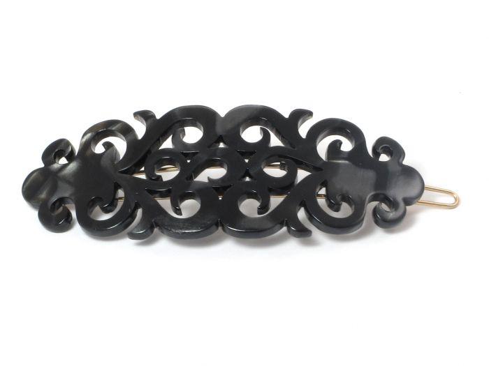 Elysee Hårspænde - 8 cm NACRO BLACK