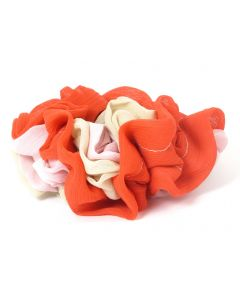 JustHairClips Triple Color Hårelastik - Scrunchie  - RØD
