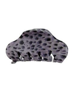 Lilla Leopard fashion hårklemme - 9 cm