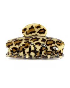 Lysbrun Leopard Hårklemme