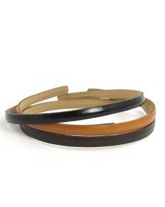 Simple Læder Hårbøjle – 0.5 cm